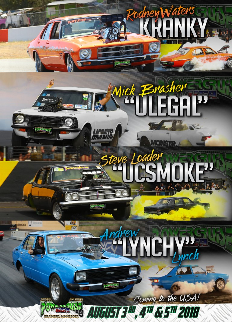 Powercruise Burnout Cars going to USA
